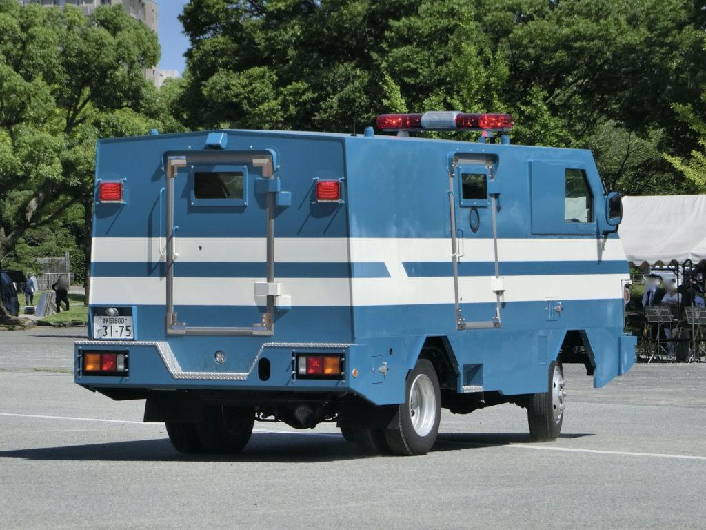 キャンターの特型遊撃車、静岡県警察。