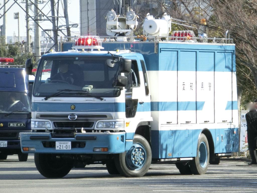 日野・4代目レンジャーの機動隊レスキュー車